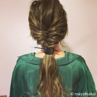 金髪 ショート ロング 簡単ヘアアレンジ ヘアスタイルや髪型の写真・画像