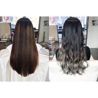 ロング グラデーションカラー イルミナカラー モード ヘアスタイルや髪型の写真・画像 ヘアスタイルや髪型の写真・画像