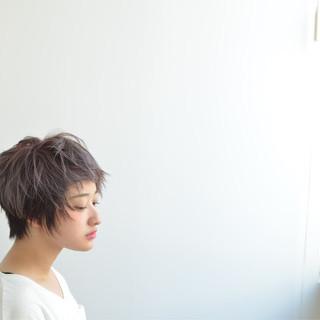 大人女子 フェミニン モード ショート ヘアスタイルや髪型の写真・画像
