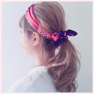 ショート ロング 簡単ヘアアレンジ ヘアアクセ ヘアスタイルや髪型の写真・画像