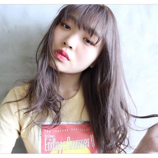 透明感 ナチュラル 前髪あり ロング ヘアスタイルや髪型の写真・画像