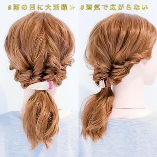 ダウンスタイル 簡単ヘアアレンジ セミロング ヘアアレンジ ヘアスタイルや髪型の写真・画像