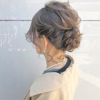 ナチュラル デート ヘアアレンジ 結婚式 ヘアスタイルや髪型の写真・画像