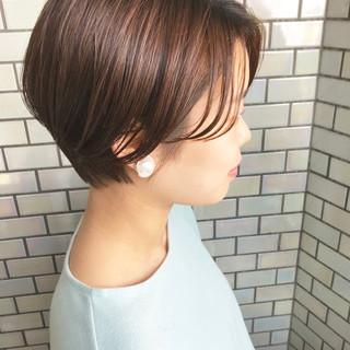 ショートヘア 小顔ショート ナチュラル ショート ヘアスタイルや髪型の写真・画像 ヘアスタイルや髪型の写真・画像