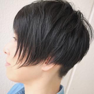 黒髪 ストリート アシメバング 抜け感 ヘアスタイルや髪型の写真・画像