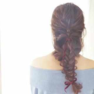 セミロング ヘアアレンジ ゆるふわ フェミニン ヘアスタイルや髪型の写真・画像
