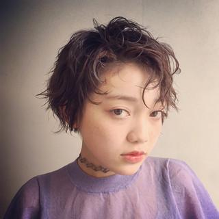 モード マッシュ アッシュ 色気 ヘアスタイルや髪型の写真・画像