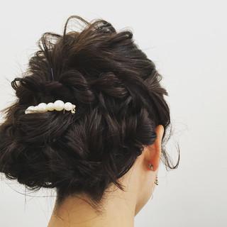 上品 エレガント セミロング 女子会 ヘアスタイルや髪型の写真・画像