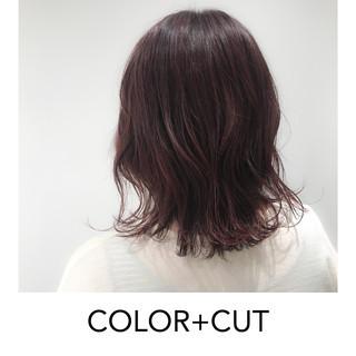 ヘアアレンジ イルミナカラー ボブ ナチュラル ヘアスタイルや髪型の写真・画像