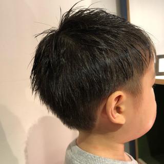 ナチュラル ショート キッズ キッズカット ヘアスタイルや髪型の写真・画像