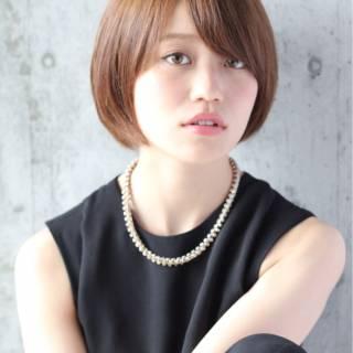 秋 モテ髪 ショート ストリート ヘアスタイルや髪型の写真・画像