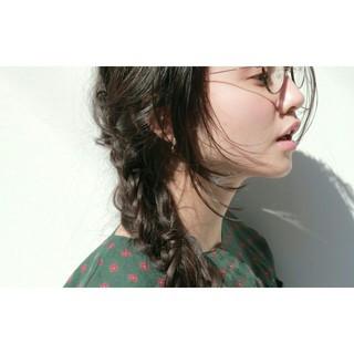 黒髪 デート ナチュラル 小顔 ヘアスタイルや髪型の写真・画像