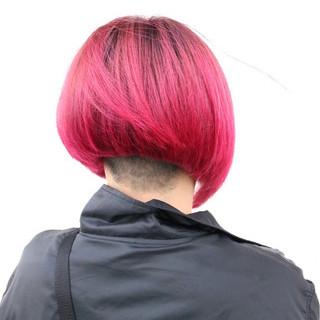 グラデーションカラー モード レッド ボルドー ヘアスタイルや髪型の写真・画像 ヘアスタイルや髪型の写真・画像
