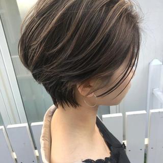 ショート ショートボブ アンニュイほつれヘア 外国人風カラー ヘアスタイルや髪型の写真・画像