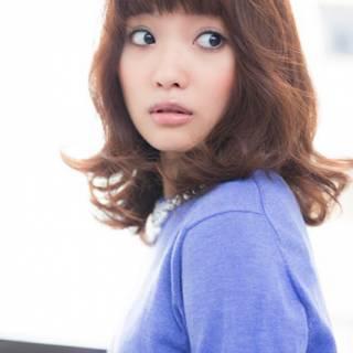 モテ髪 ミディアム 秋 コンサバ ヘアスタイルや髪型の写真・画像 ヘアスタイルや髪型の写真・画像