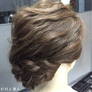 和装 ヘアアレンジ アップスタイル 編み込み ヘアスタイルや髪型の写真・画像 ヘアスタイルや髪型の写真・画像