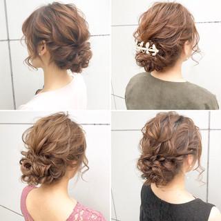ヘアアレンジ ナチュラル デート 結婚式 ヘアスタイルや髪型の写真・画像 ヘアスタイルや髪型の写真・画像