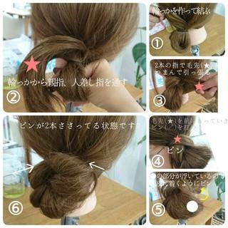 セルフヘアアレンジ 夏 ロング ショート ヘアスタイルや髪型の写真・画像