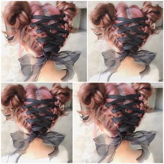 ヘアアレンジ 簡単ヘアアレンジ ボブ ゆるふわ ヘアスタイルや髪型の写真・画像