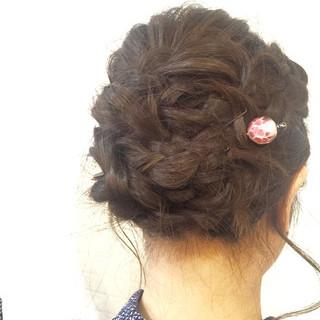 ロング 簡単ヘアアレンジ パーティ 結婚式 ヘアスタイルや髪型の写真・画像