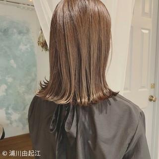 ハイライト デート エレガント ミディアム ヘアスタイルや髪型の写真・画像