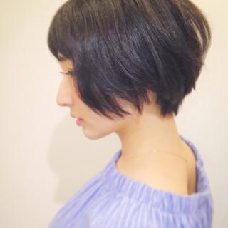 ナチュラル 小顔 大人女子 黒髪 ヘアスタイルや髪型の写真・画像