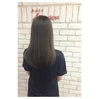 セミロング アッシュ 暗髪 ストリート ヘアスタイルや髪型の写真・画像