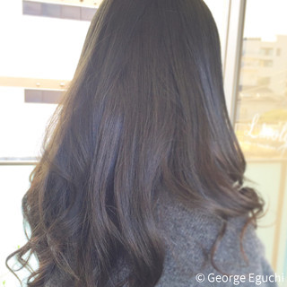 ゆるふわ ナチュラル 黒髪 ロング ヘアスタイルや髪型の写真・画像