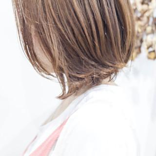 切りっぱなし ボブ パーマ デジタルパーマ ヘアスタイルや髪型の写真・画像