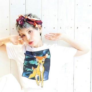 色気 ヘアアクセ ショート ヘアアレンジ ヘアスタイルや髪型の写真・画像 ヘアスタイルや髪型の写真・画像