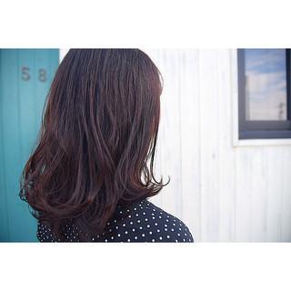 ワンカール 外ハネ セミロング 艶髪 ヘアスタイルや髪型の写真・画像 ヘアスタイルや髪型の写真・画像