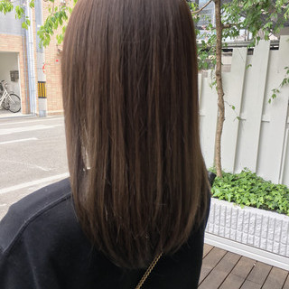 ブランジュ 美髪 セミロング 外国人風カラー ヘアスタイルや髪型の写真・画像