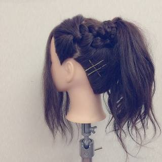 簡単ヘアアレンジ モテ髪 コンサバ ショート ヘアスタイルや髪型の写真・画像