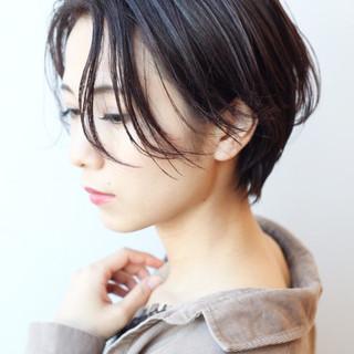 ショート 大人かわいい 横顔美人 ハンサムショート ヘアスタイルや髪型の写真・画像