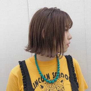 外ハネ 外国人風カラー 抜け感 切りっぱなし ヘアスタイルや髪型の写真・画像 ヘアスタイルや髪型の写真・画像