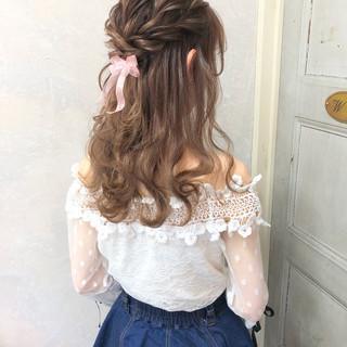 パーティ ガーリー ヘアアレンジ デート ヘアスタイルや髪型の写真・画像