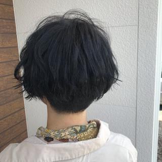 コンサバ ショートボブ 外国人風カラー アディクシーカラー ヘアスタイルや髪型の写真・画像