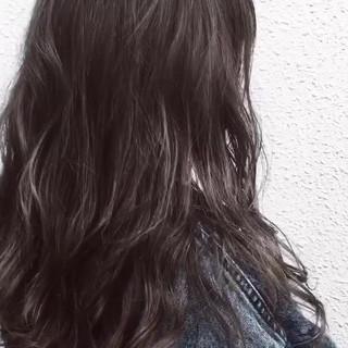 アッシュ グレージュ セミロング ハイライト ヘアスタイルや髪型の写真・画像 ヘアスタイルや髪型の写真・画像