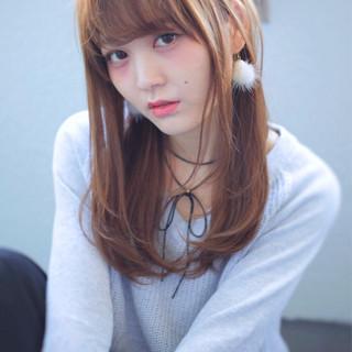 モテ髪 外国人風 透明感 セミロング ヘアスタイルや髪型の写真・画像