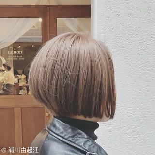 デート ストリート ゆるふわ ボブ ヘアスタイルや髪型の写真・画像