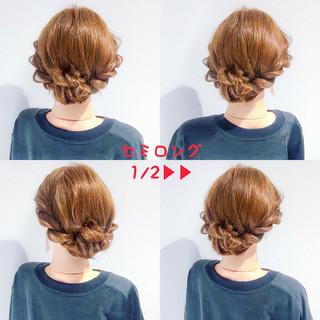 上品 エレガント デート ヘアアレンジ ヘアスタイルや髪型の写真・画像