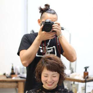 ゆるふわ ボブ 簡単 ガーリー ヘアスタイルや髪型の写真・画像
