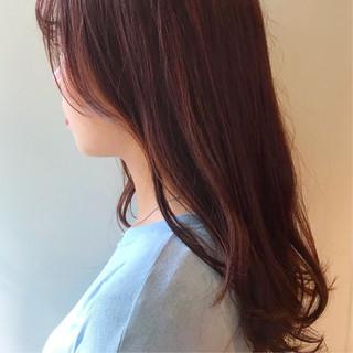 レッドカラー レッド インナーカラーレッド カシスレッド ヘアスタイルや髪型の写真・画像