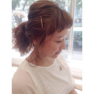 ポニーテール ルーズ ヘアアレンジ ゆるふわ ヘアスタイルや髪型の写真・画像