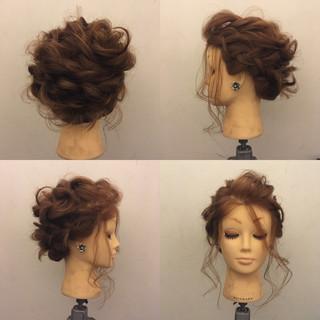 裏編み込み フェミニン ロープ編み ヘアアレンジ ヘアスタイルや髪型の写真・画像