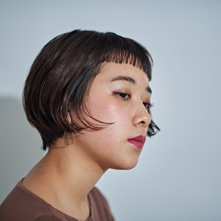 レトロ ヴィンテージ 簡単スタイリング モード ヘアスタイルや髪型の写真・画像