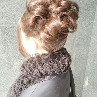 簡単ヘアアレンジ ミディアム ヘアアレンジ ゆるふわ ヘアスタイルや髪型の写真・画像 ヘアスタイルや髪型の写真・画像