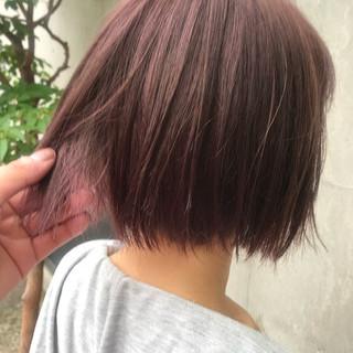 ボブ パープル ピンク ガーリー ヘアスタイルや髪型の写真・画像