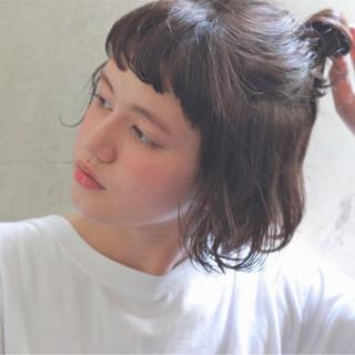 ボブ ショート 前髪あり 暗髪 ヘアスタイルや髪型の写真・画像 ヘアスタイルや髪型の写真・画像