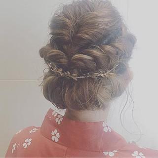 結婚式 夏 ボブ 花火大会 ヘアスタイルや髪型の写真・画像 ヘアスタイルや髪型の写真・画像
